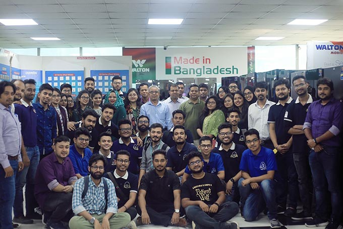 EEE students visit Walton Hi-tech Industries at Gazipur