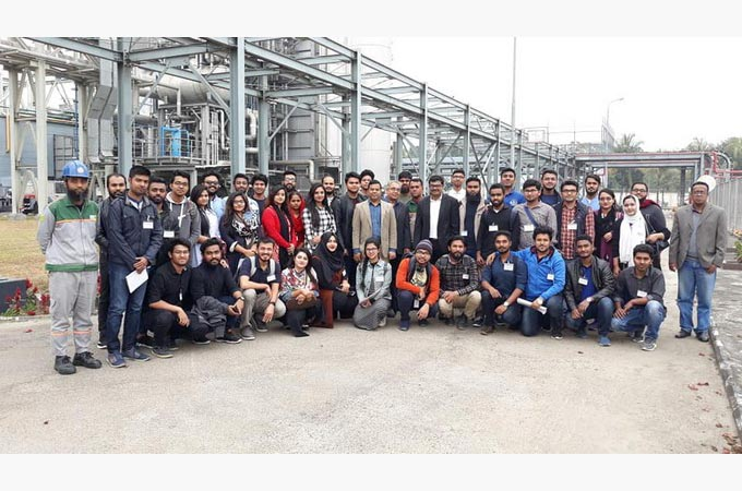 EEE Students visit RPCL Power Plant at Mymensingh