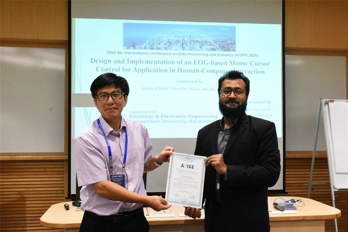 "EEE faculty wins ""Best Presentation Award"" at ICDPR 2020 in Singapore"