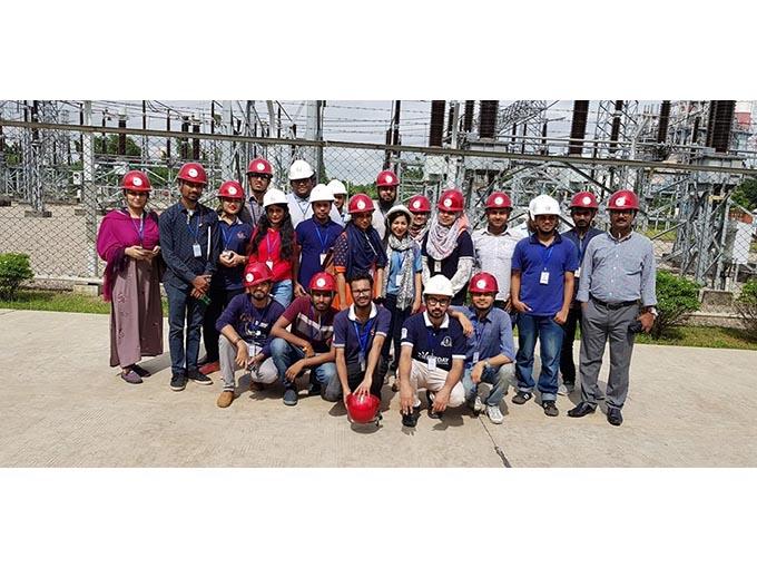 EEE Students visit Summit Mehnaghat Power Plant