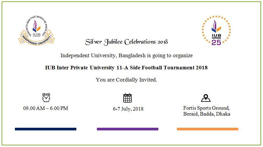IUB Inter Private University 11-A Side Football Tournament 2018